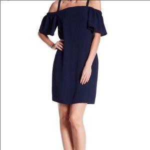 charles henry cold shoulder dress